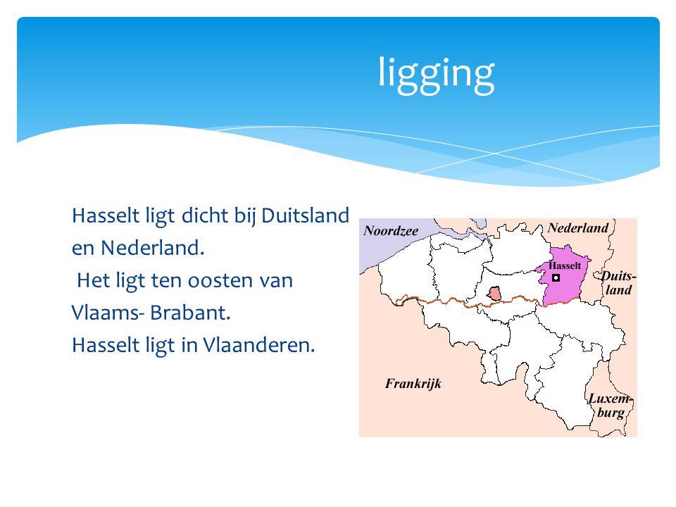ligging Hasselt ligt dicht bij Duitsland en Nederland.