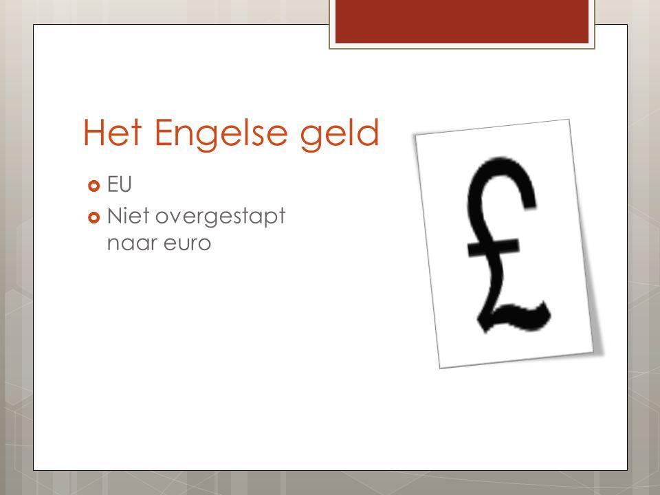 Het Engelse geld EU Niet overgestapt naar euro