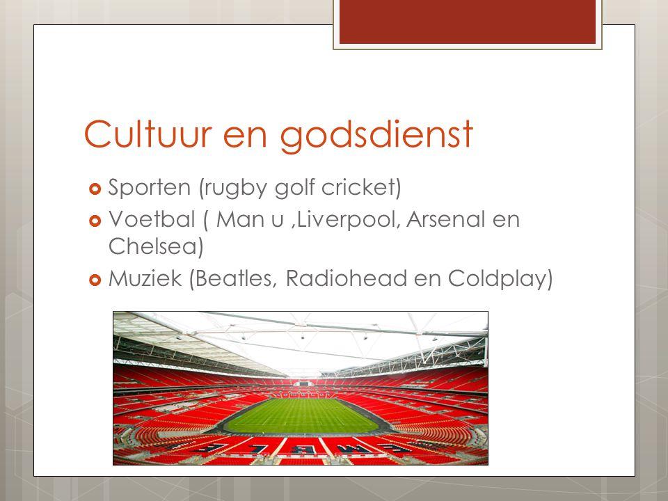 Cultuur en godsdienst Sporten (rugby golf cricket)