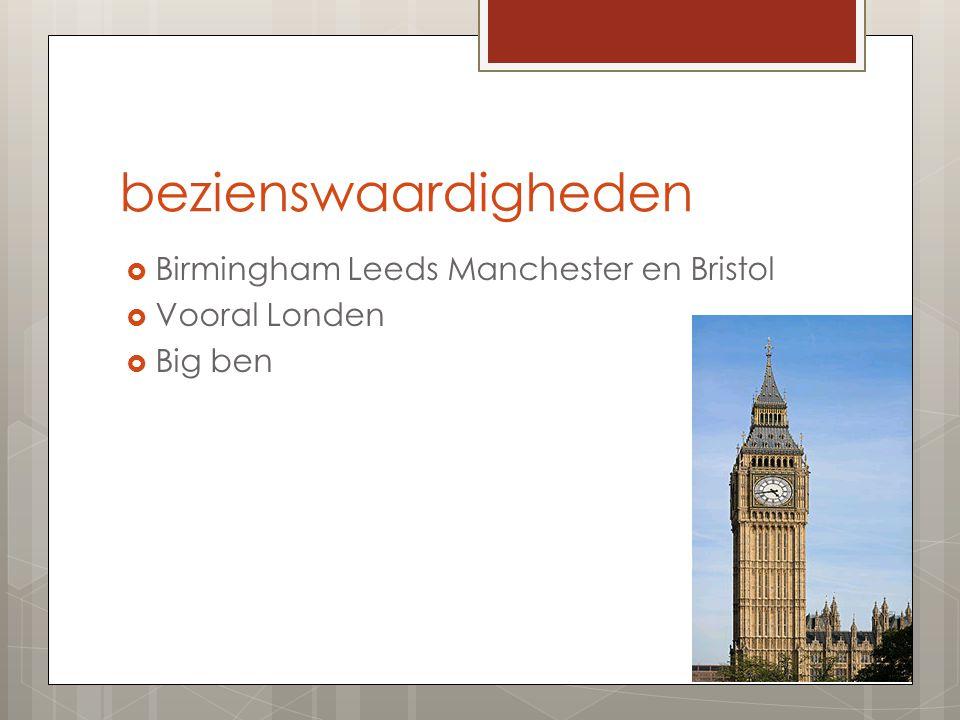 bezienswaardigheden Birmingham Leeds Manchester en Bristol