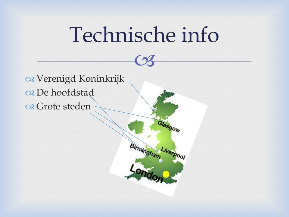 Technische info Verenigd Koninkrijk De hoofdstad Grote steden