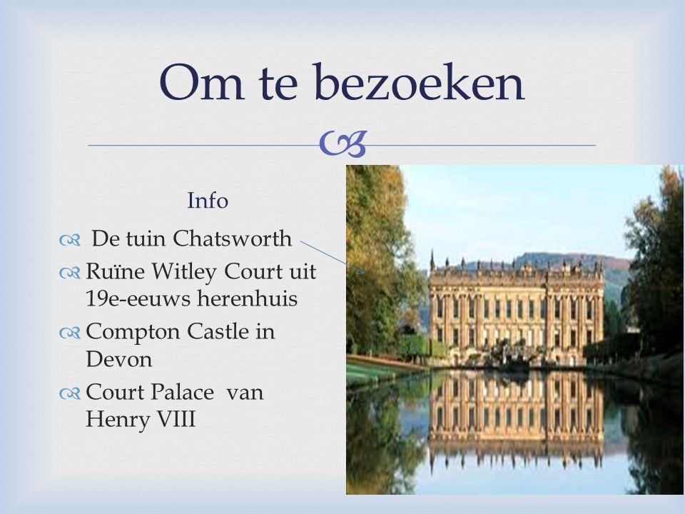 Om te bezoeken Info Een kleine foto De tuin Chatsworth
