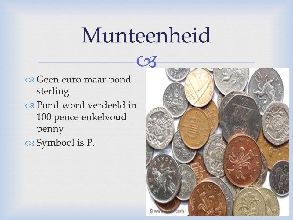 Munteenheid Geen euro maar pond sterling