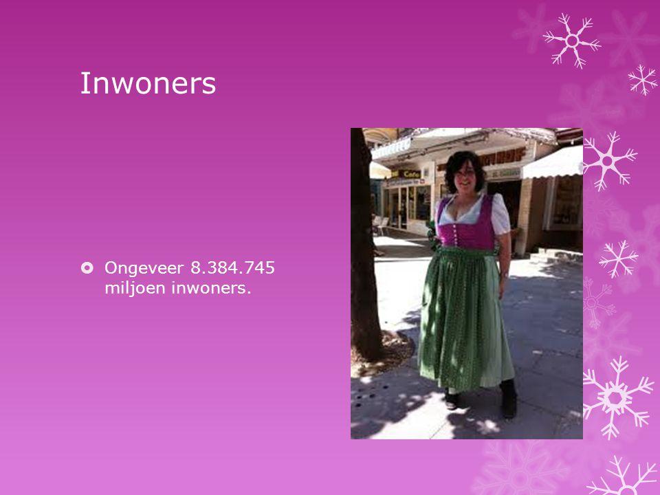 Inwoners Ongeveer 8.384.745 miljoen inwoners.