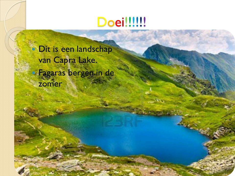 Doei!!!!!! Dit is een landschap van Capra Lake.