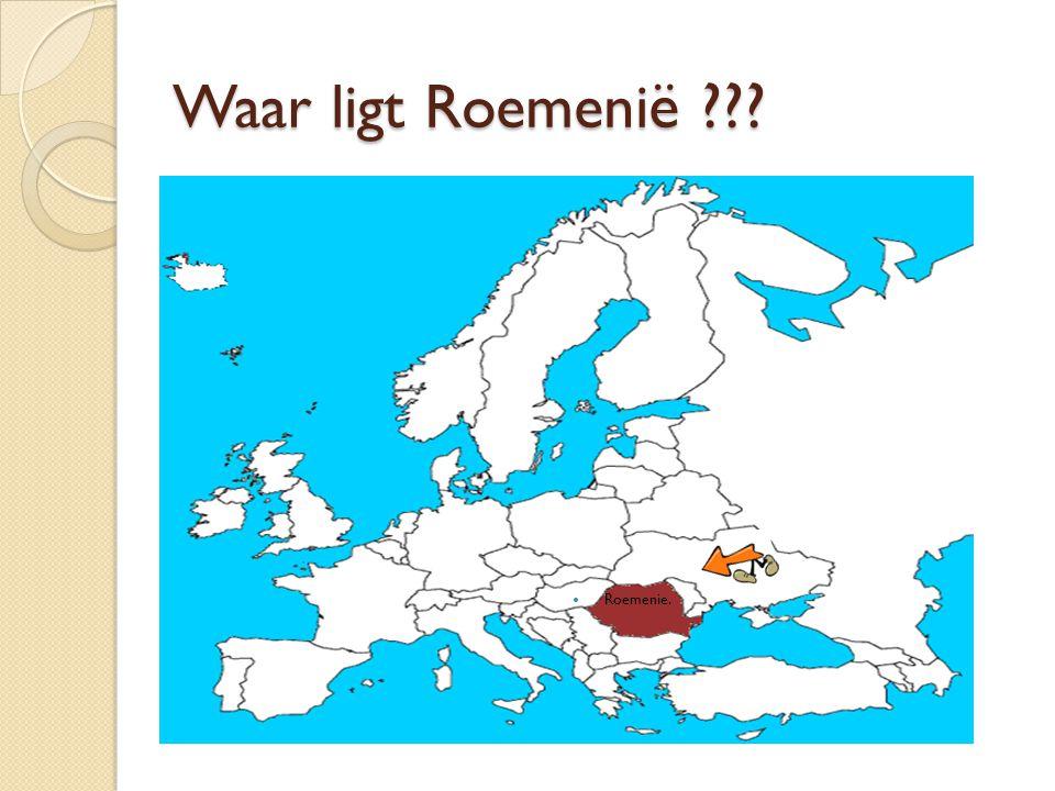 Waar ligt Roemenië Roemenie.