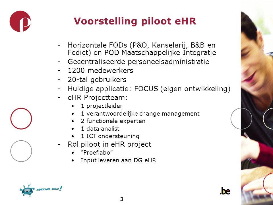 Voorstelling piloot eHR