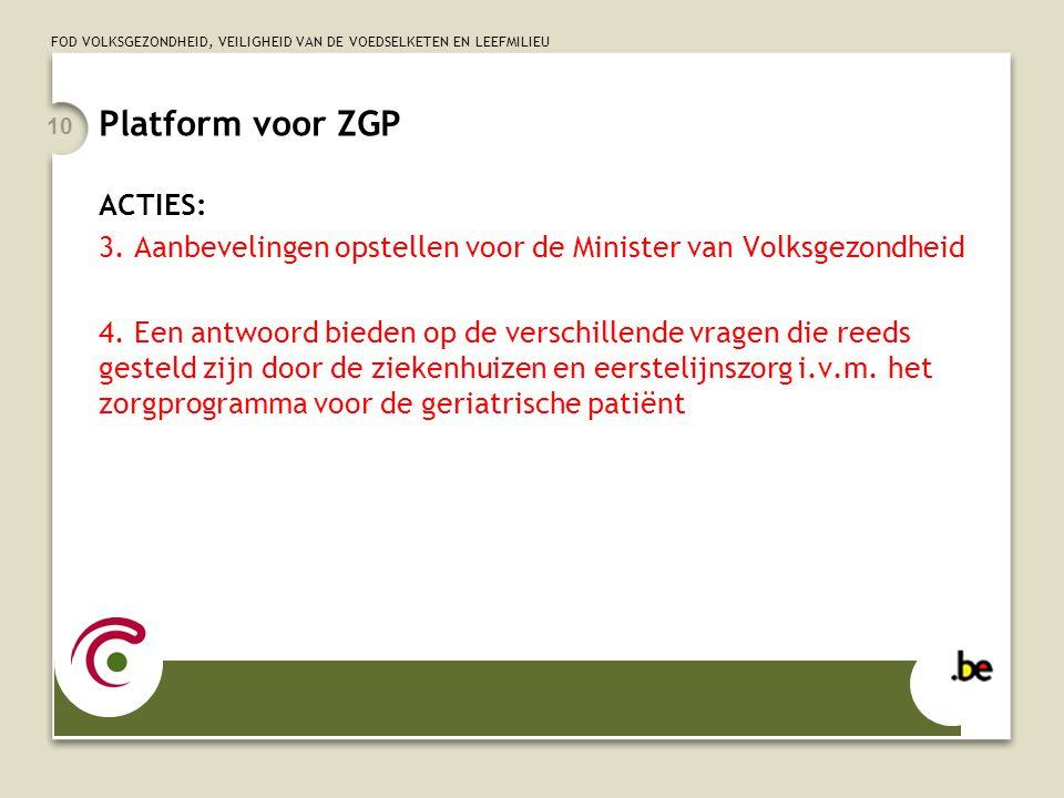 Platform voor ZGP ACTIES:
