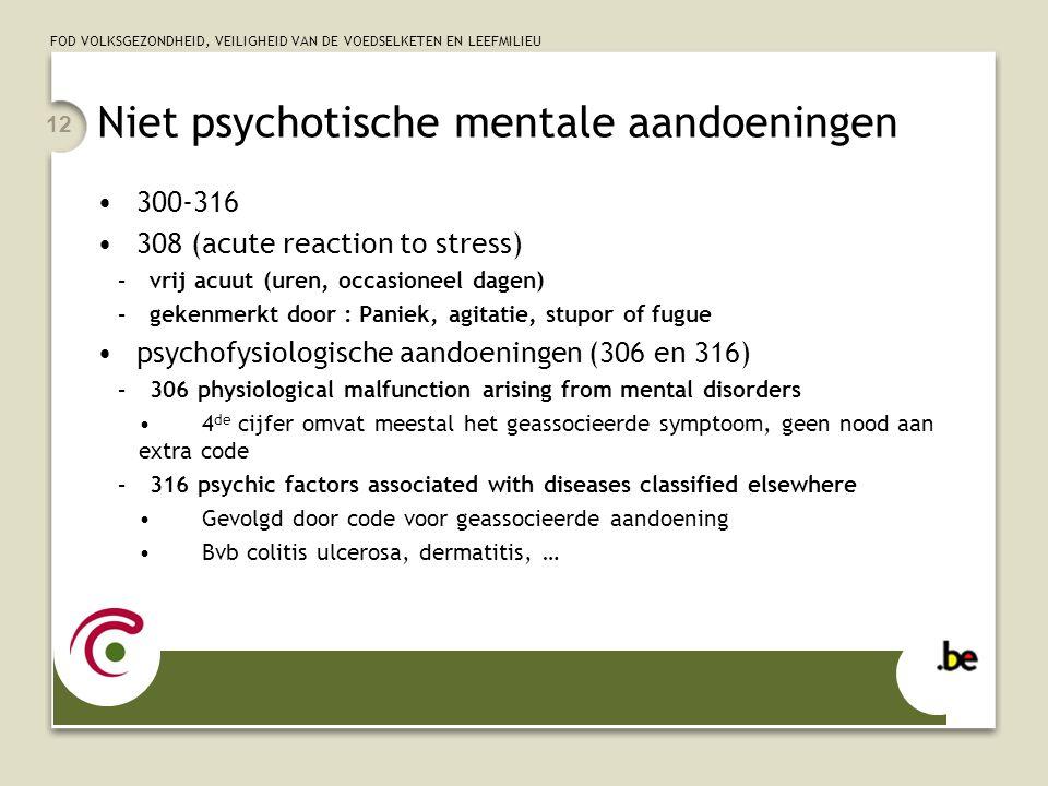 Niet psychotische mentale aandoeningen