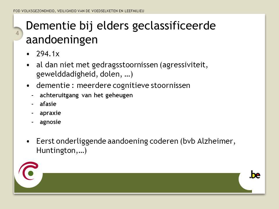 Dementie bij elders geclassificeerde aandoeningen