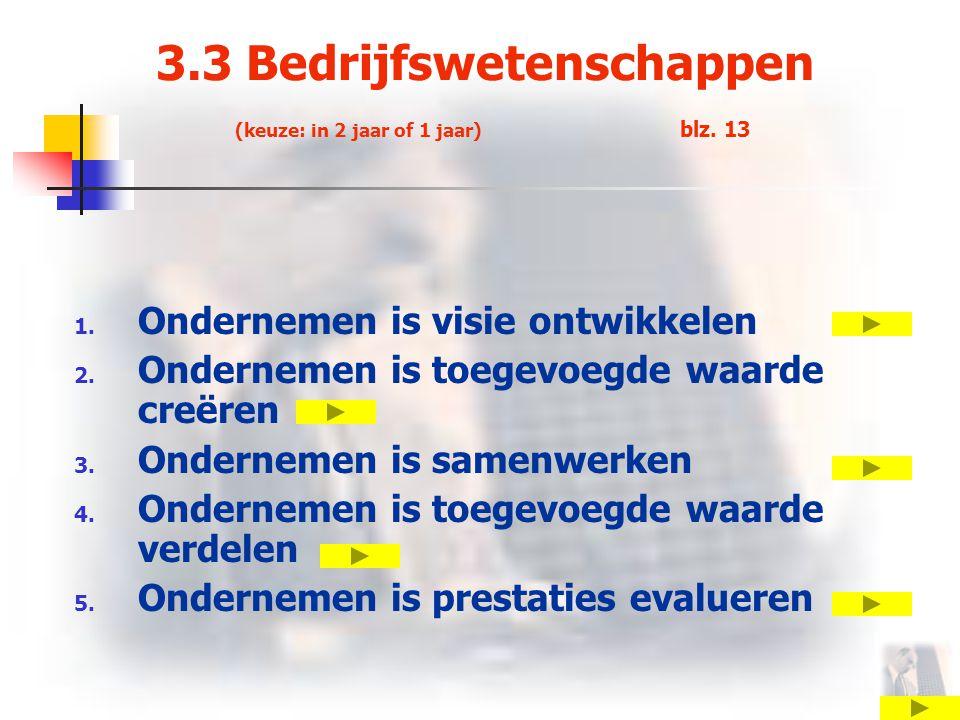 3.3 Bedrijfswetenschappen (keuze: in 2 jaar of 1 jaar) blz. 13