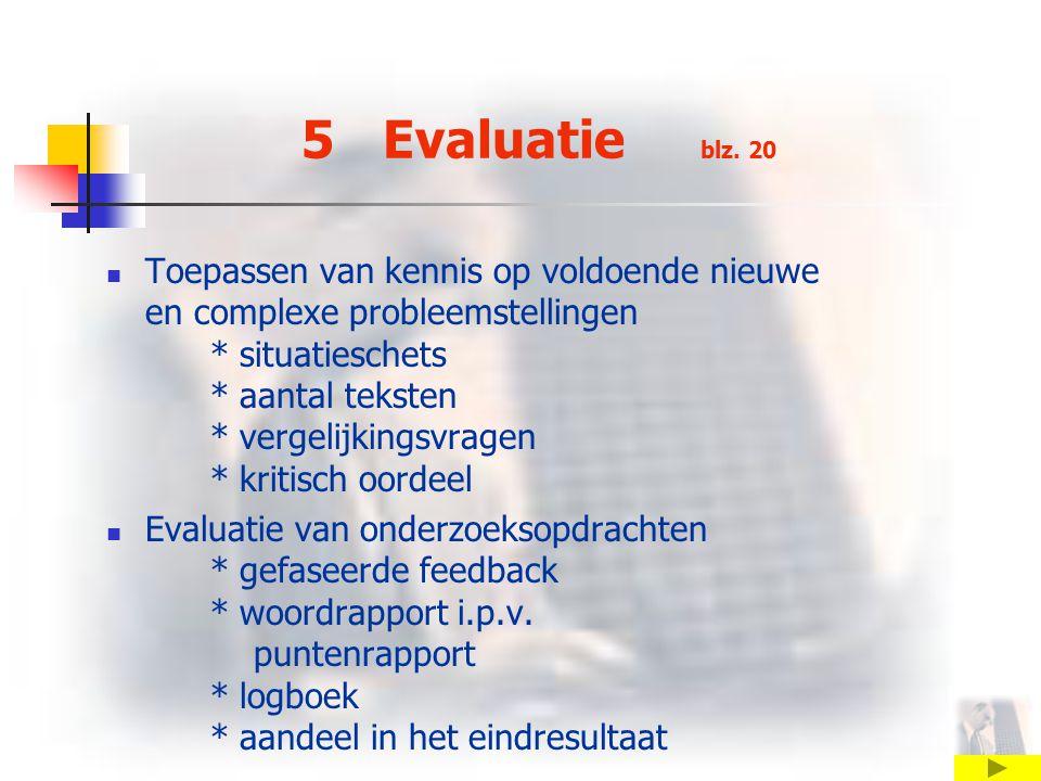 5 Evaluatie blz. 20