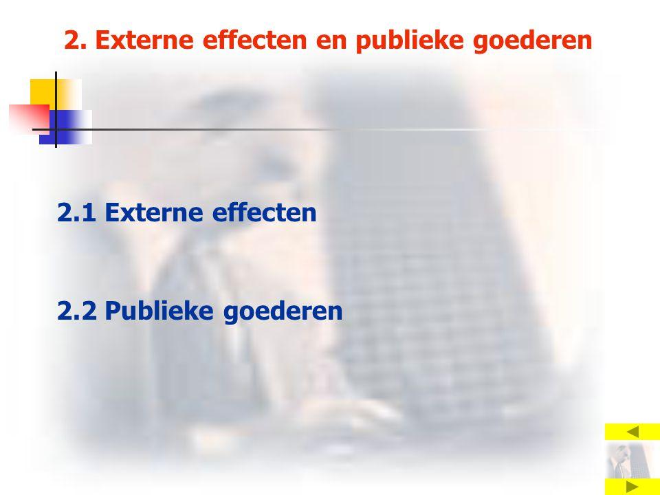 2. Externe effecten en publieke goederen