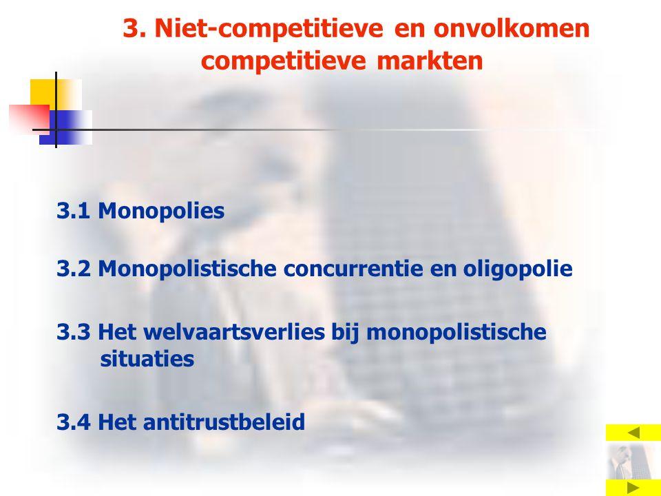3. Niet-competitieve en onvolkomen competitieve markten