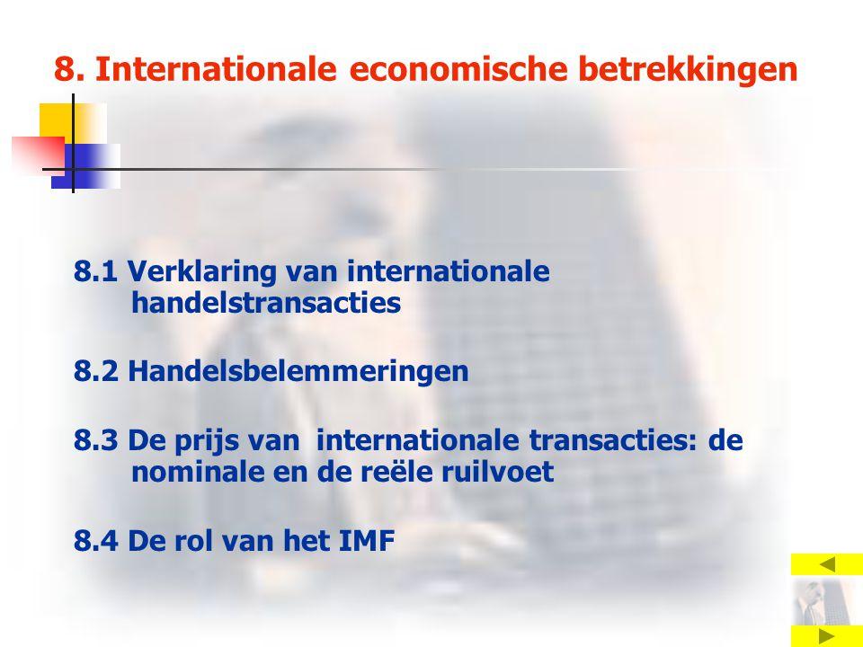 8. Internationale economische betrekkingen