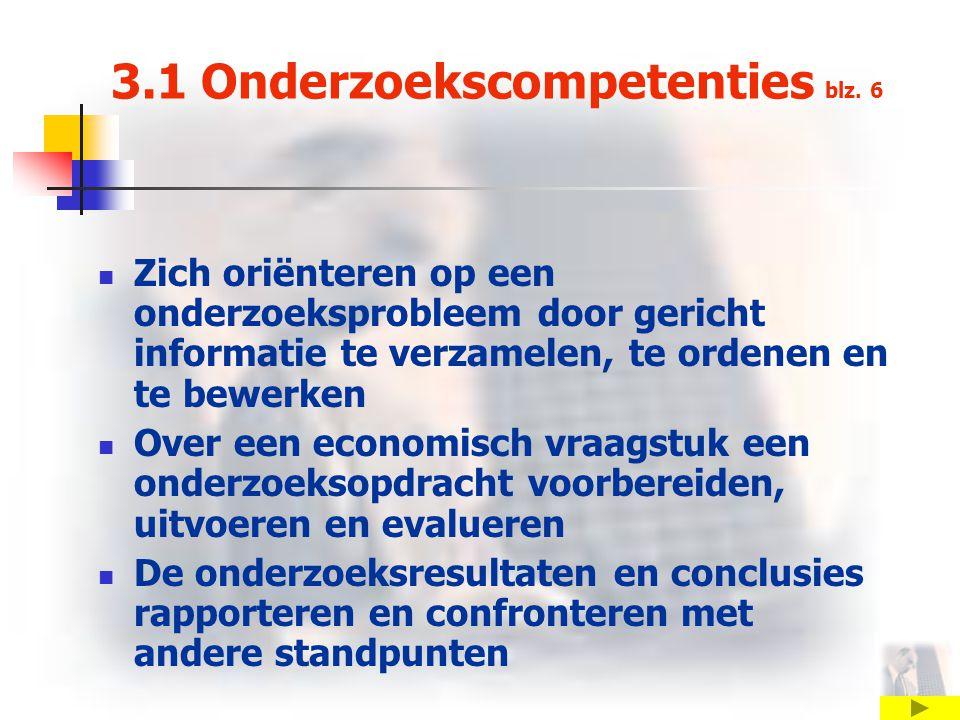 3.1 Onderzoekscompetenties blz. 6