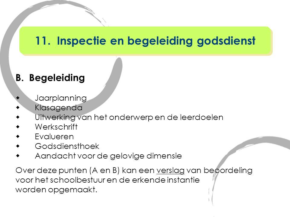 11. Inspectie en begeleiding godsdienst