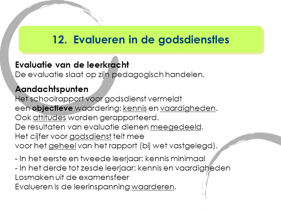 12. Evalueren in de godsdienstles
