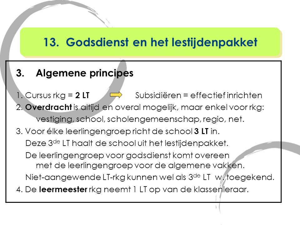 13. Godsdienst en het lestijdenpakket