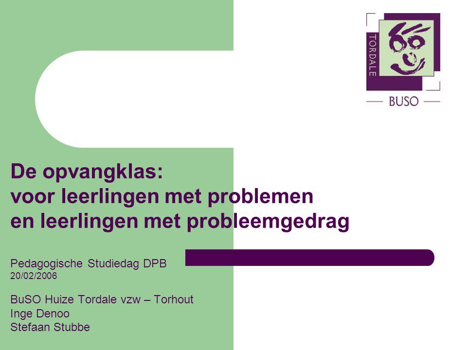 voor leerlingen met problemen en leerlingen met probleemgedrag