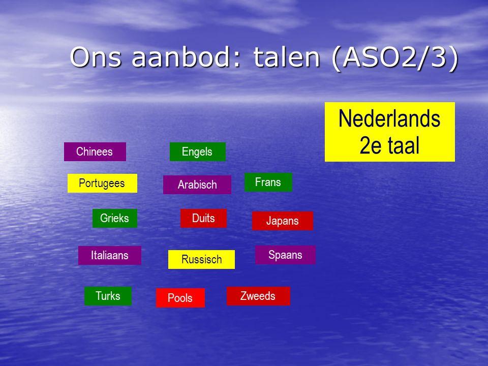 Ons aanbod: talen (ASO2/3)