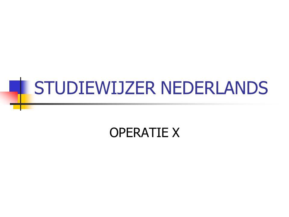 STUDIEWIJZER NEDERLANDS