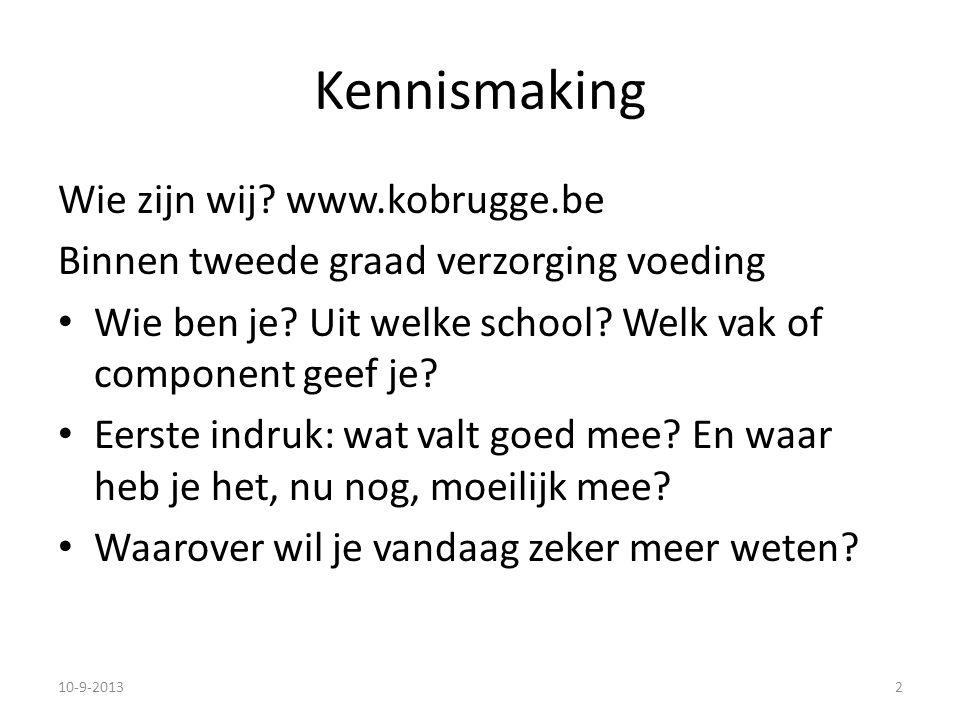 Kennismaking Wie zijn wij www.kobrugge.be