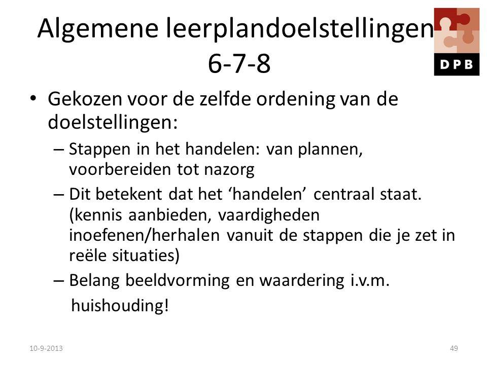 Algemene leerplandoelstellingen 6-7-8