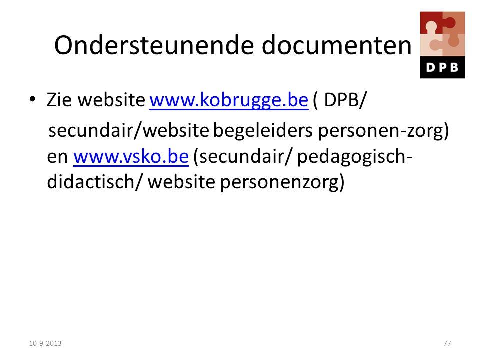 Ondersteunende documenten