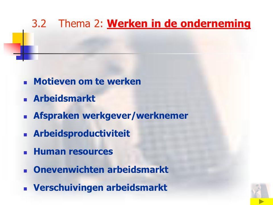 3.2 Thema 2: Werken in de onderneming