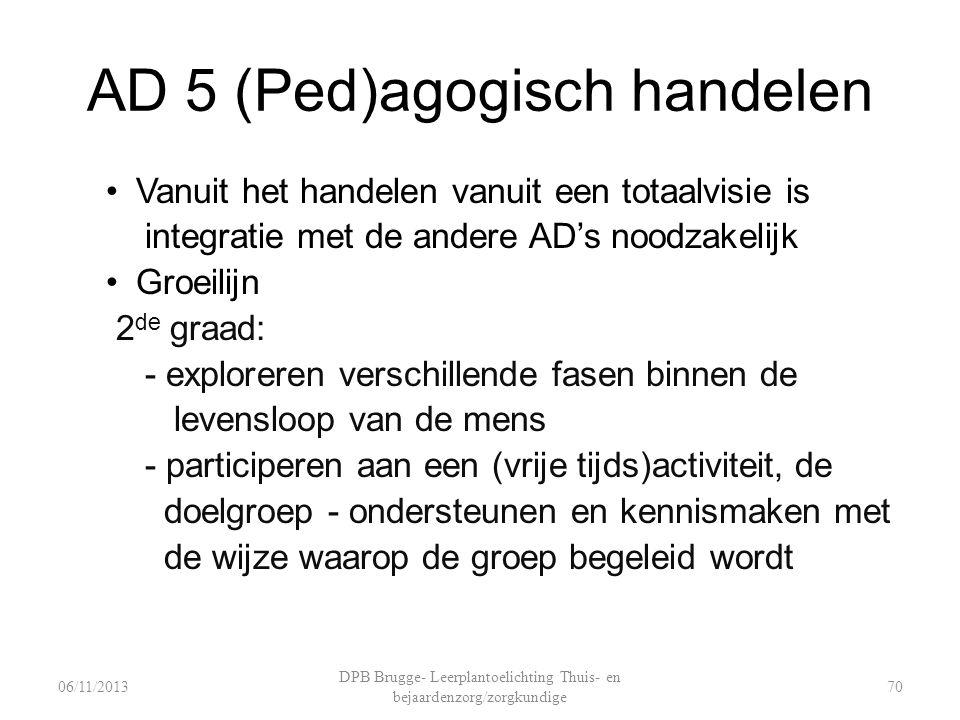 AD 5 (Ped)agogisch handelen