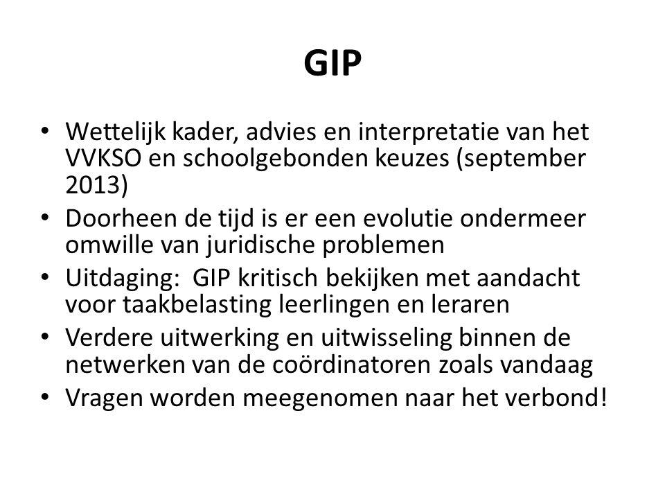 GIP Wettelijk kader, advies en interpretatie van het VVKSO en schoolgebonden keuzes (september 2013)