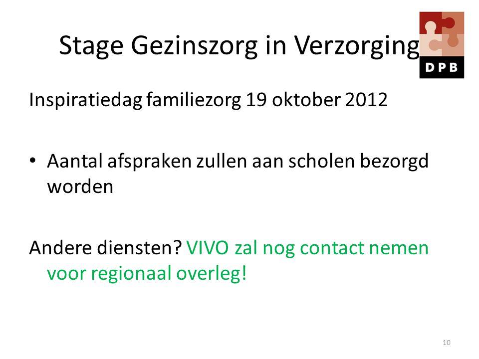 Stage Gezinszorg in Verzorging