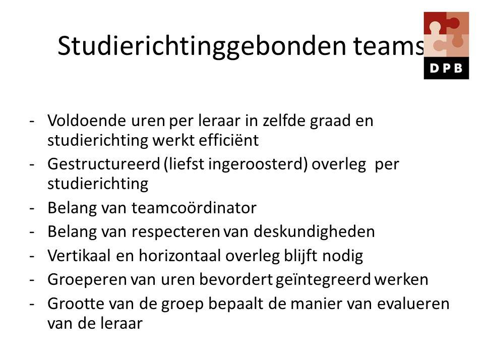 Studierichtinggebonden teams