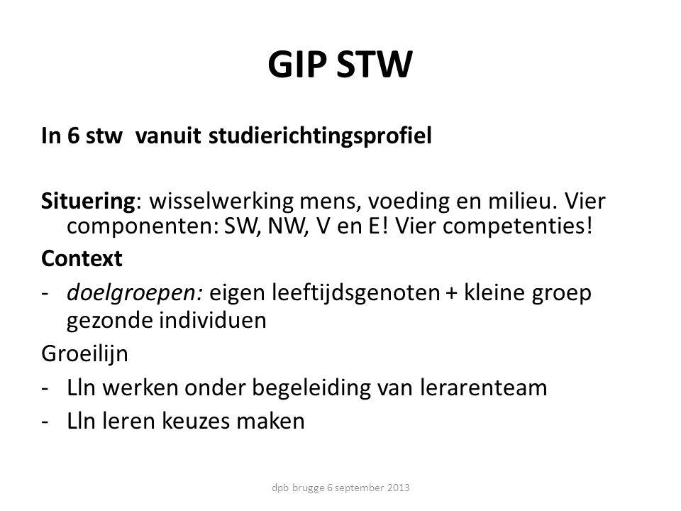 GIP STW In 6 stw vanuit studierichtingsprofiel