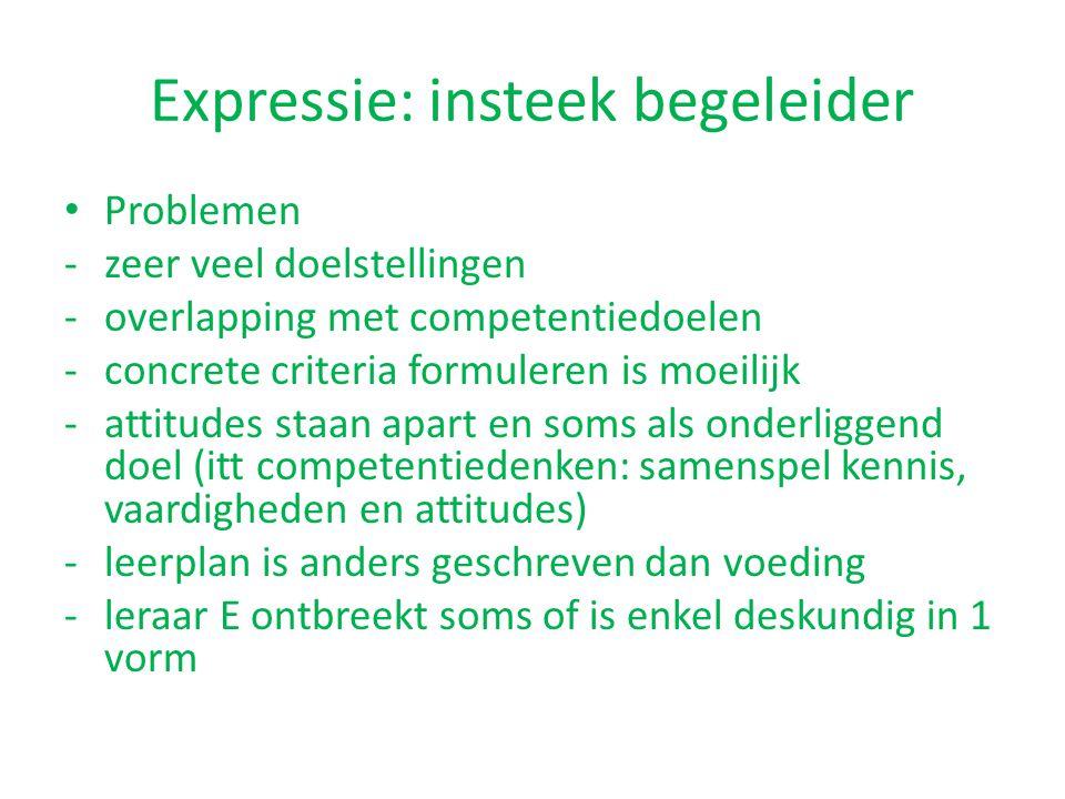 Expressie: insteek begeleider