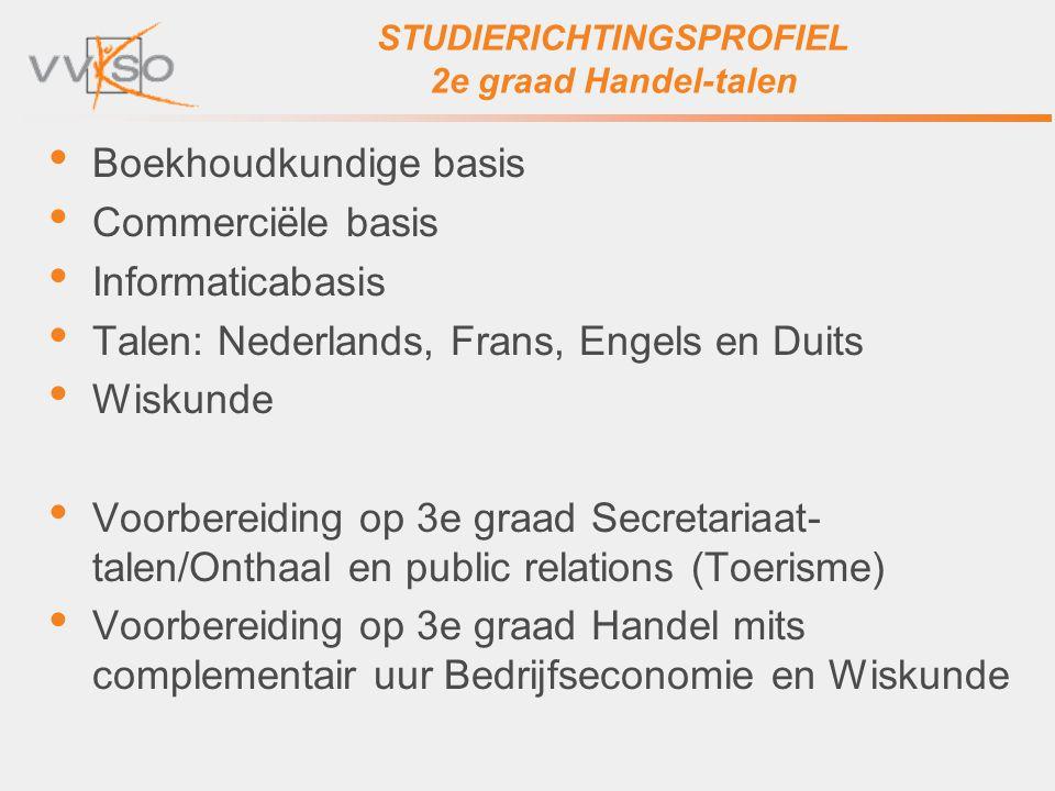 STUDIERICHTINGSPROFIEL 2e graad Handel-talen