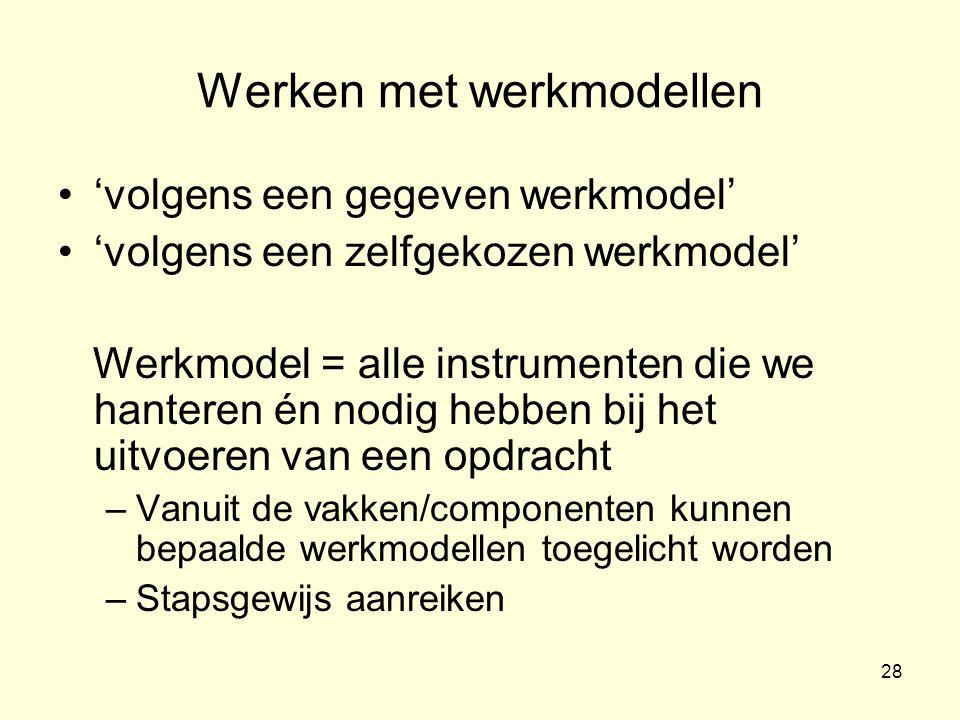 Werken met werkmodellen