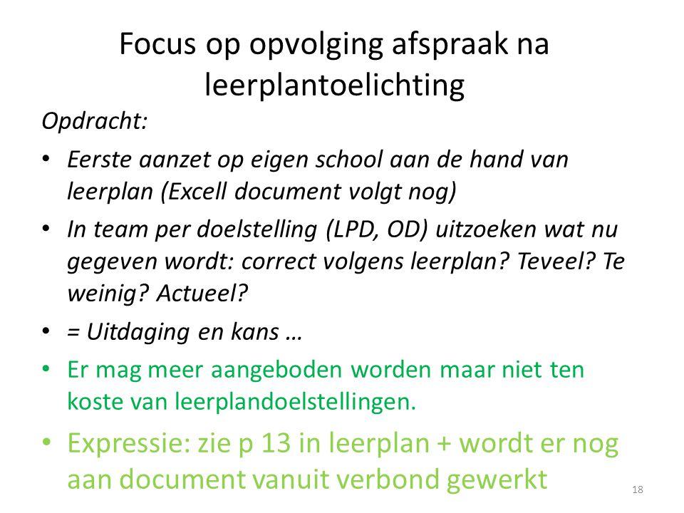 Focus op opvolging afspraak na leerplantoelichting