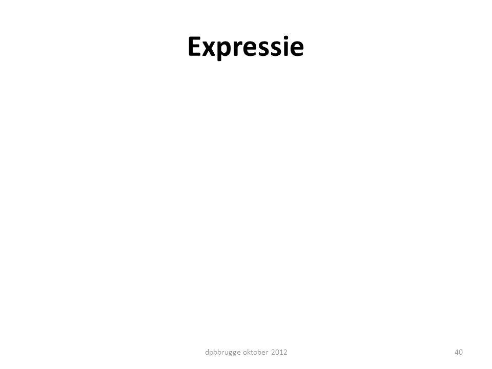 Expressie dpbbrugge oktober 2012