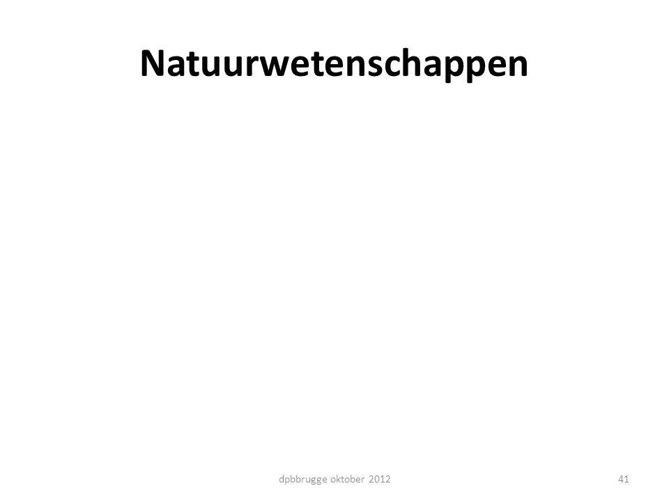 Natuurwetenschappen dpbbrugge oktober 2012