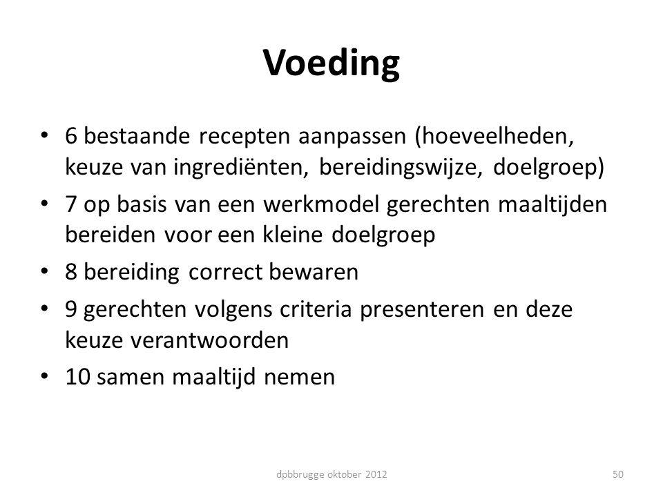 Voeding 6 bestaande recepten aanpassen (hoeveelheden, keuze van ingrediënten, bereidingswijze, doelgroep)