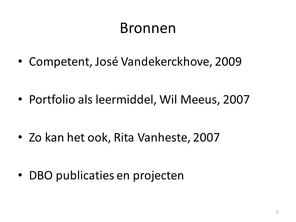 Bronnen Competent, José Vandekerckhove, 2009
