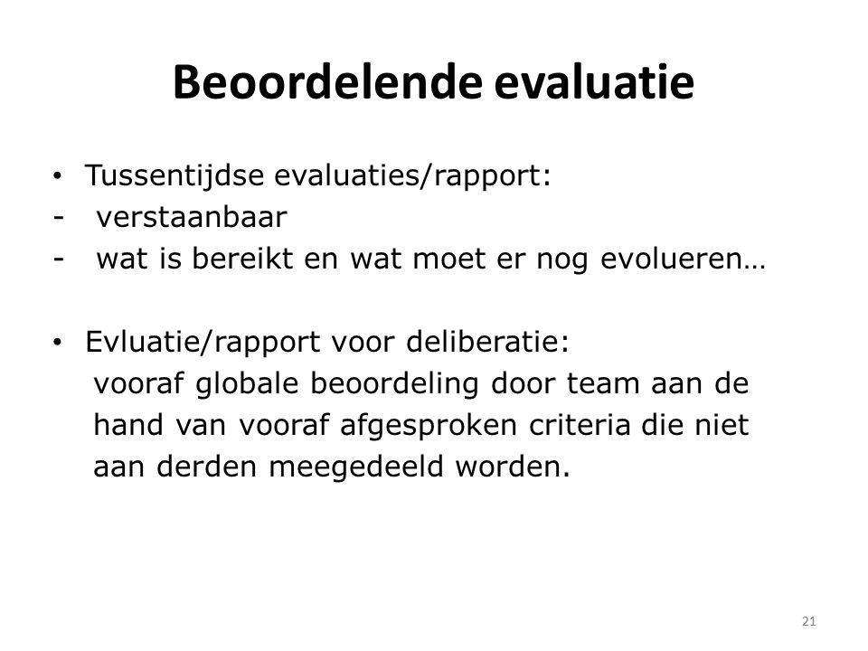 Beoordelende evaluatie