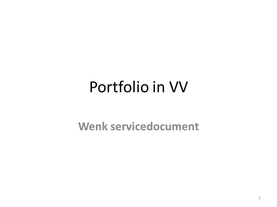 Portfolio in VV Wenk servicedocument