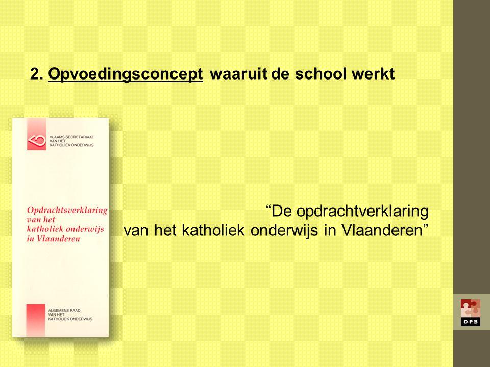 2. Opvoedingsconcept waaruit de school werkt