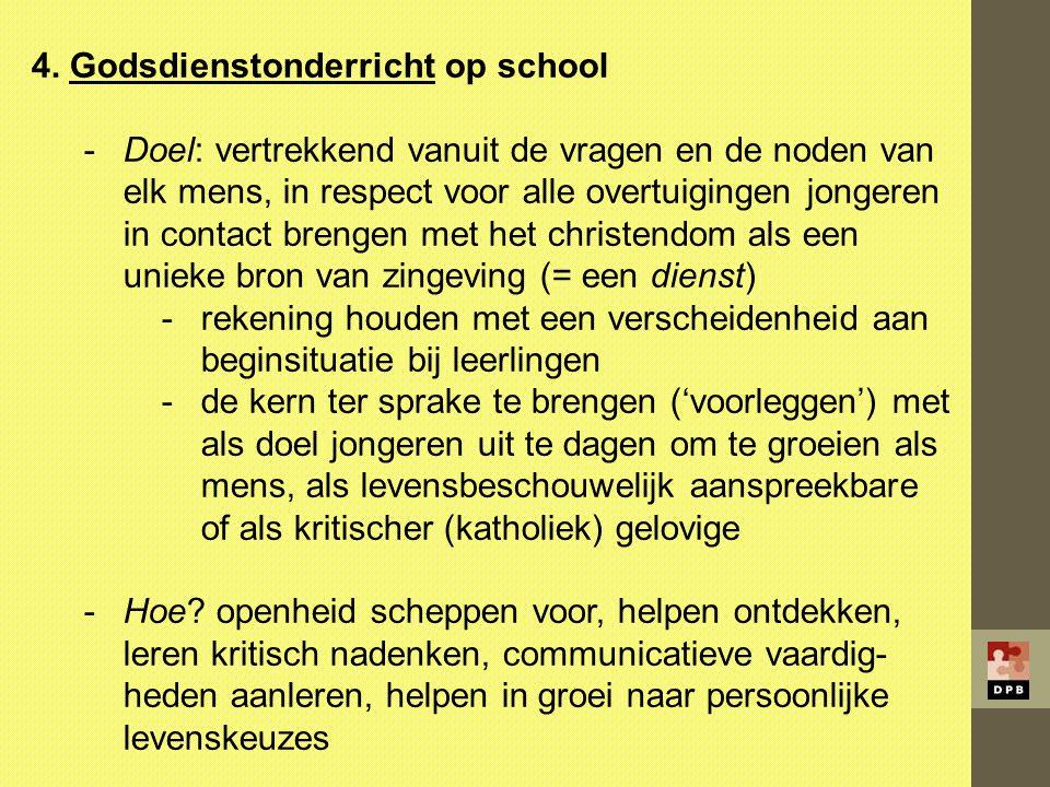4. Godsdienstonderricht op school