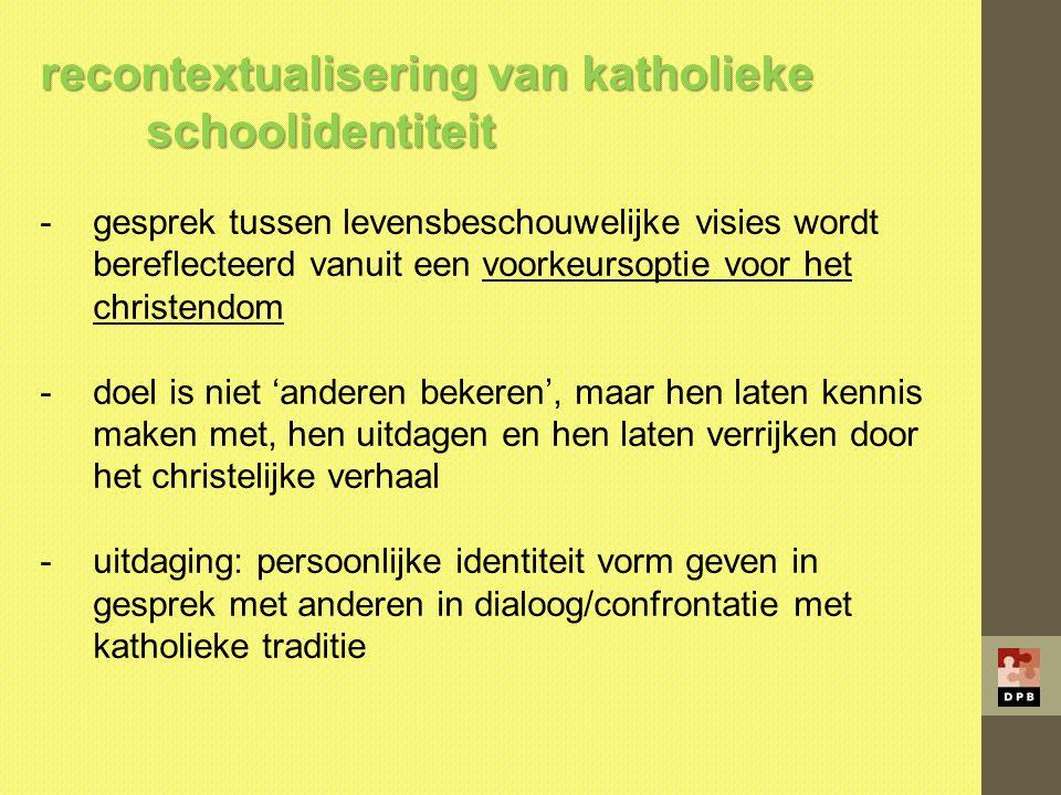 recontextualisering van katholieke schoolidentiteit