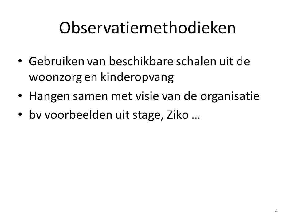 Observatiemethodieken