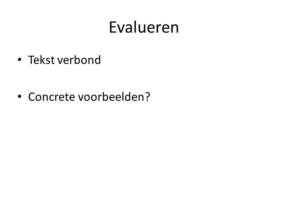 Evalueren Tekst verbond Concrete voorbeelden